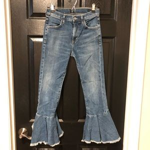 citizens of humanity drew flounce high rise jeans
